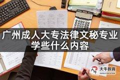 广州成人大专法律文秘专业学些什么内容