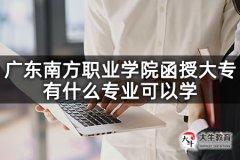 广东南方职业学院函授大专有什么专业可以学