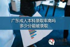 广东成人本科录取率高吗,多少分能被录取