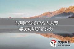 深圳积分落户成人大专学历可以加多少分