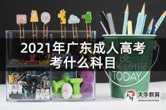 2021年广东成人高考考什么科目