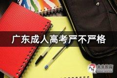 广东成人高考严不严格