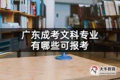 广东成考文科专业有哪些可报考