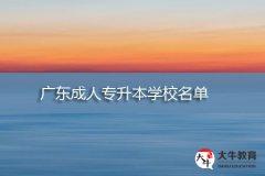 广东成人专升本学校名单