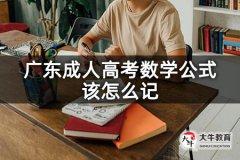 广东成人高考数学公式该怎么记