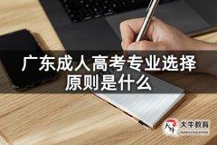 广东成人高考专业选择原则是什么