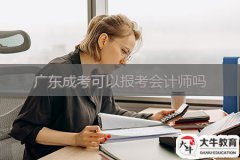 广东成考可以报考会计师吗