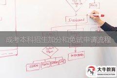 广东成考本科招生加分和免试申请流程
