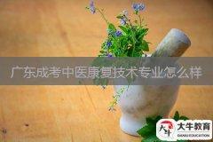 广东成考中医康复技术专业怎么样