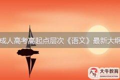 2021年广东成人高考高起点层次《语文》最新大纲