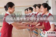广州成人高考考空乘专业有前途吗