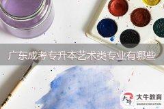 广东成考专升本艺术类专业有哪些