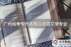 广州成考专升本可以报汉语言文学专业吗