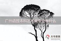 广州函授本科艺术类专业考什么