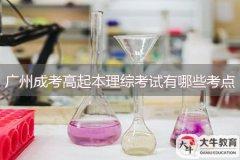 广州成考高起本理综考试有哪些考点