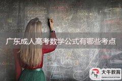 广东成人高考数学公式有哪些考点