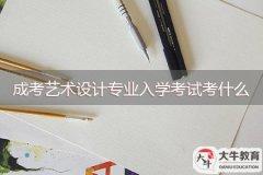 成考艺术设计专业入学考试考什么
