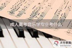 成人高考音乐学专业考什么